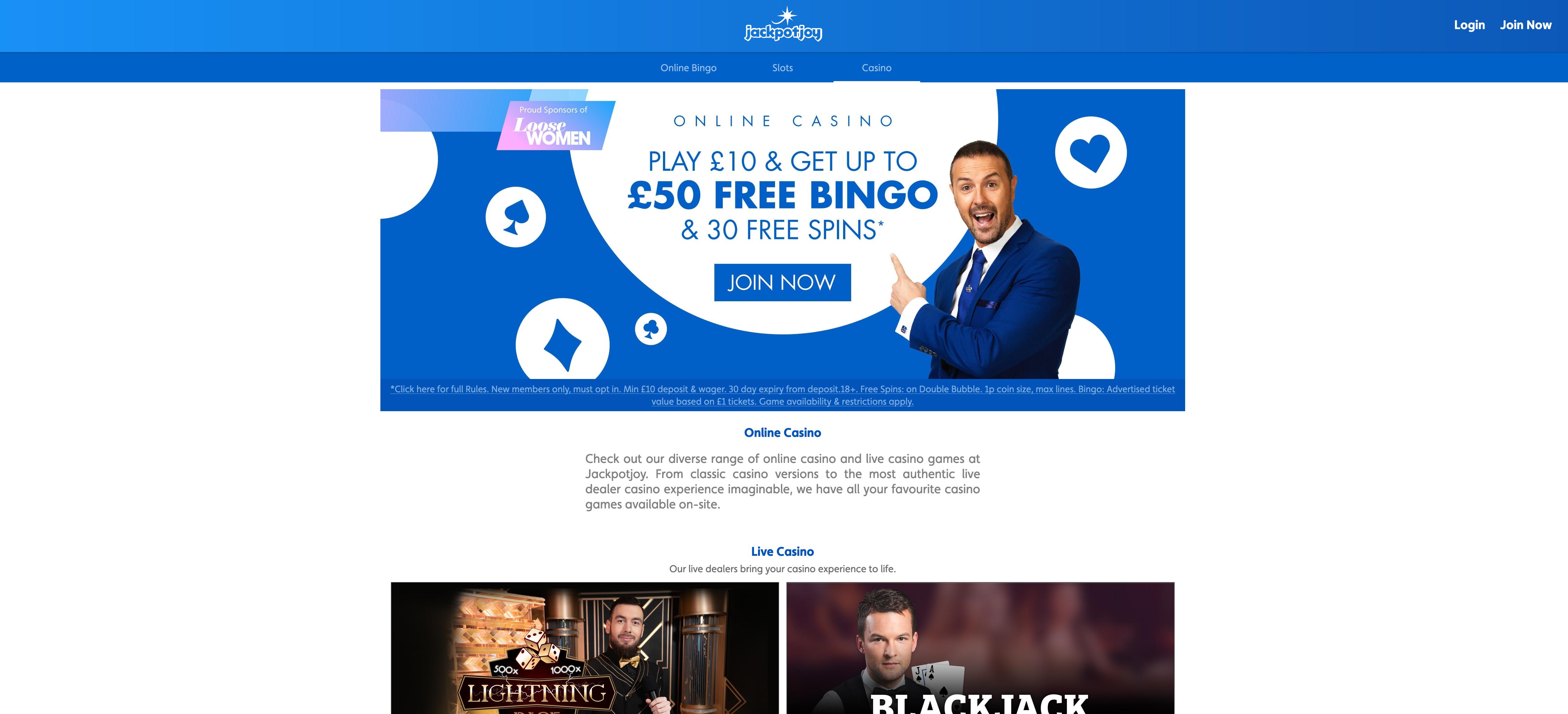Jackpot Joy Offer